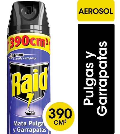 Raid Aerosol Anti Pulgas Insecticida X 3 Unidades
