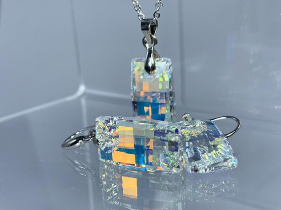 Conjunto Acero Cristal Swarovski Elements Tamaño Big
