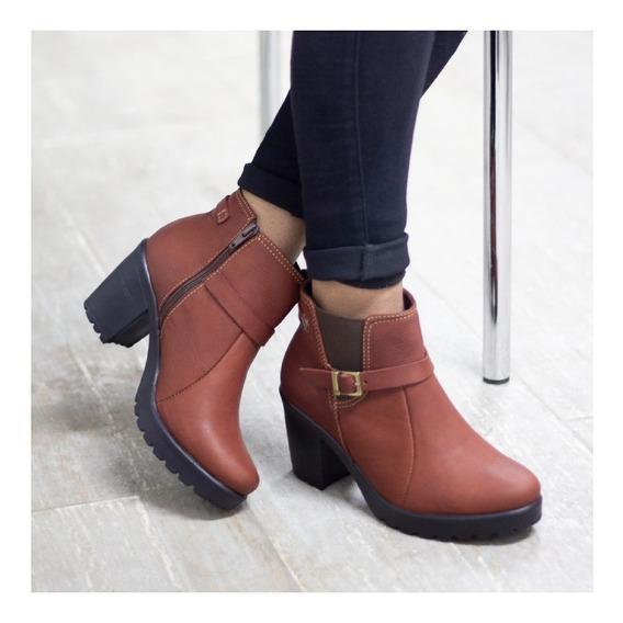 Botines Cuero Dama, Zapatos Cuero Maribu Shoes - Mod #735
