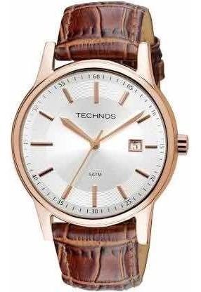 Relógio Technos Couro Masculino Classic Steel 2115rq/2k Top