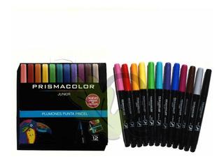 Plumon Prismacolor Punta Pincel 12 Pzs Lettering