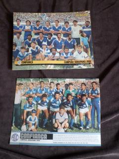 Confiança Coleção 2 Posters Campeão Sergipe Aracaju Placar