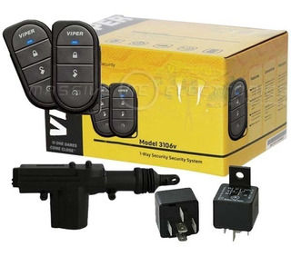 Kit Alarma Seguridad Viper 3106v Con 2 Seguros Eléctricos