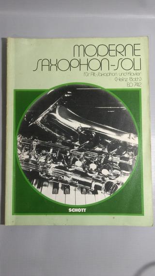 Revista Livro Usado Moderne Saxophon Soli - Heinz Both 1987