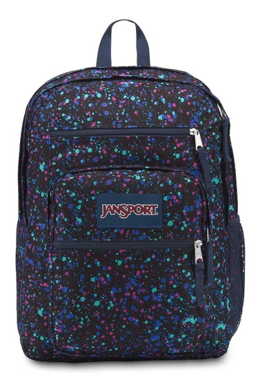 Zona Zero Mochila Jansport Big Student Splatter Dot Navy