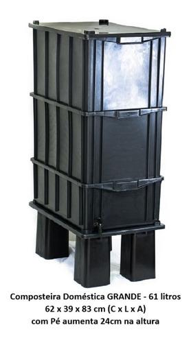 Composteira Doméstica G 61 Litros C/ Pé (cpc61fp)