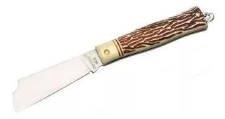 Canivete Em Aço Inox Lâmina Larga Brasfort-8119