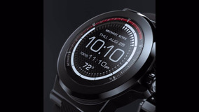 Relógio Michael Kors Access Dylan Black Silicone Smartwatch