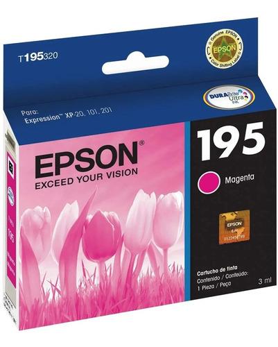 Cartucho De Tinta Epson T195320 195 Magenta Original