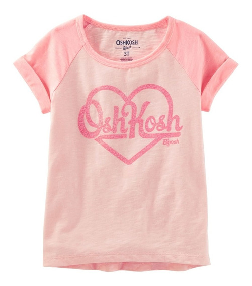 Oshkosh Remeras Nenas Glitter Logo