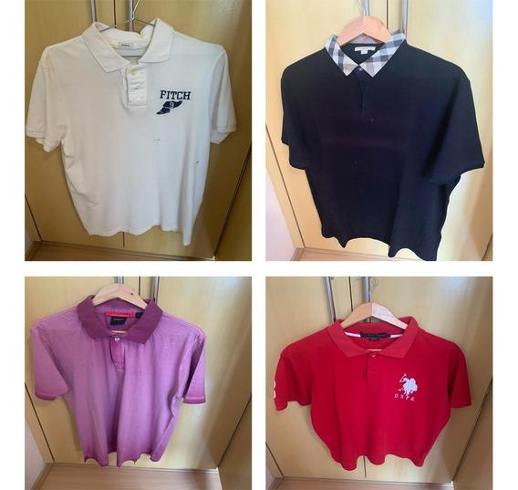 Kit 4 Camisas Polo Blueberry Abercrombie Reserva Originais
