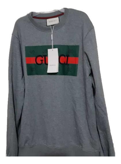 Sudadera Gucci Logo Gris