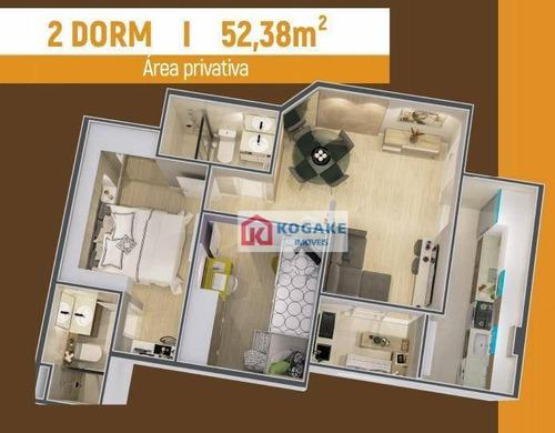 Apartamento Com 2 Dormitórios À Venda, 52 M² Por R$ 269.300,00 - Parque Residencial Flamboyant - São José Dos Campos/sp - Ap7393