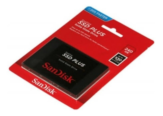 Ssd Plus Sandisk G26 240 Sata 3 , Gb 530 Mb/s Novo