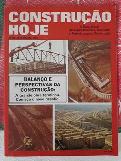 Revista Construção Hoje N°5 1985 Sobre Equipamentos Serviços