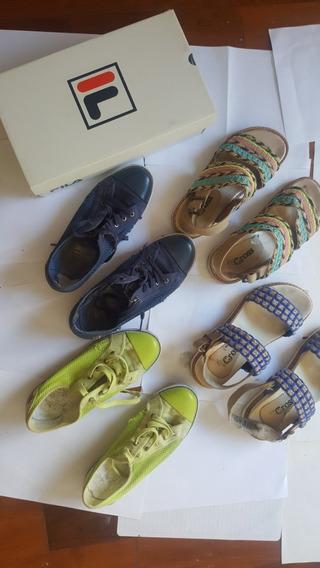 Zapatillas Fila Verde/azul Y Sandalias Verde/amarilla 7