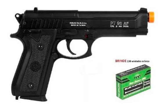 Pistola Airsoft Spring Taurus Pt92 Slide Metal - Promoção