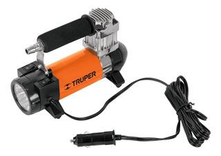 Compresor Portatil Con Linterna Truper 12 V Incluye Maletín