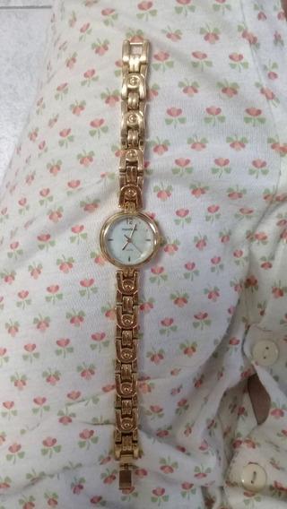 Relógio Feminino Dourado Mondaine Original