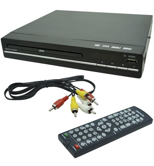 Dvd Player 3x1 Multilaser Usb Dvd Cd E Ripping Sp252
