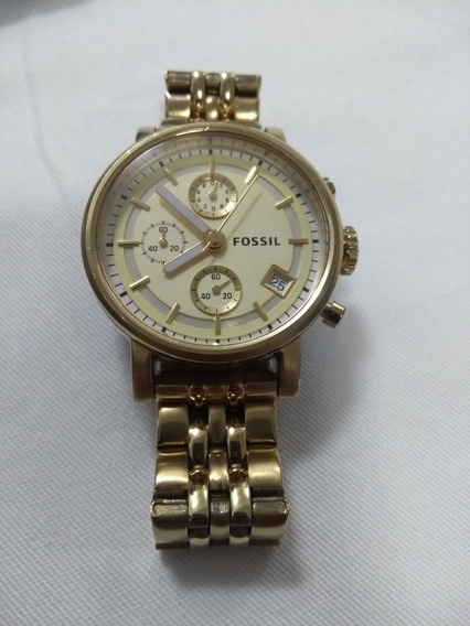 Relógio Fóssil Feminino Dourado Es2197