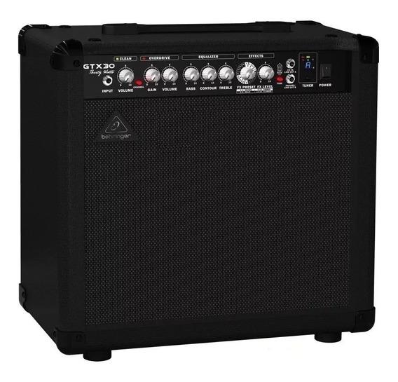 Amplificador De Guitarra Behringer Gtx30 30w 2 Canales Fx