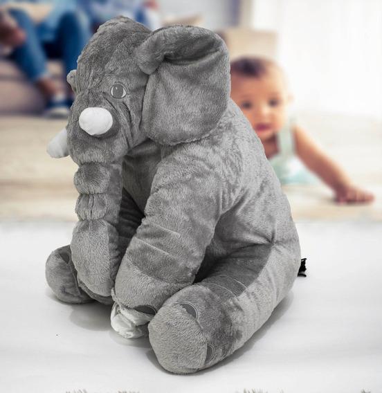Almofada 3 Elefante Pelúcia 62cm Travesseiro Para Bebê
