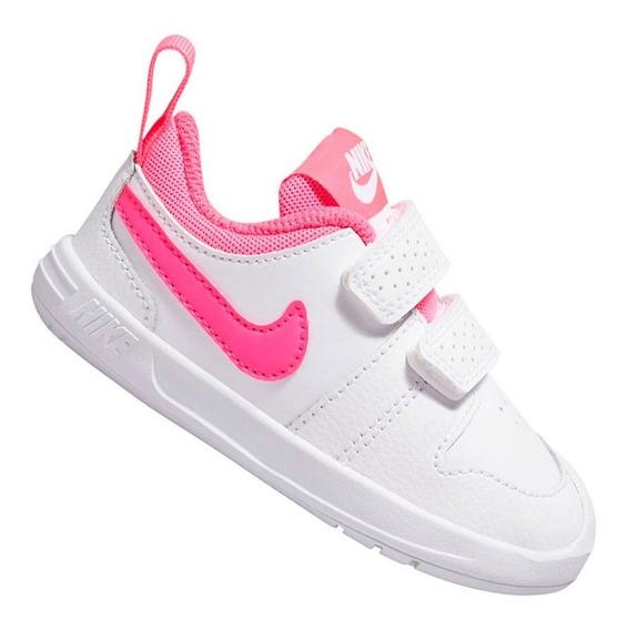 Tênis Nike Pico 5 Infantil Menina Branco E Rosa Ar4162102