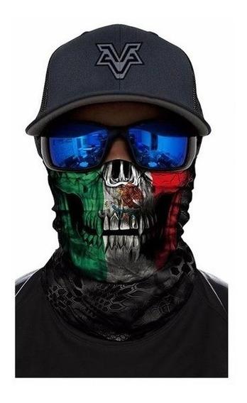 Bandana Buff Mascara 3d Ciclismo Moto Mexico Uv Protector