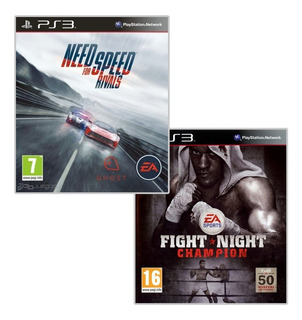 Combo Ps3 2x1 - Need For Speed Rivals + Fight Night Champion