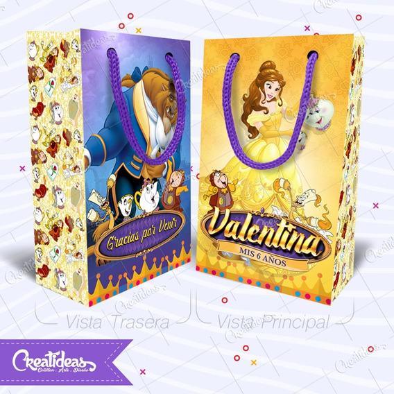 La Bella Y La Bestia Disney Bolsitas Personalizadas Pack X30
