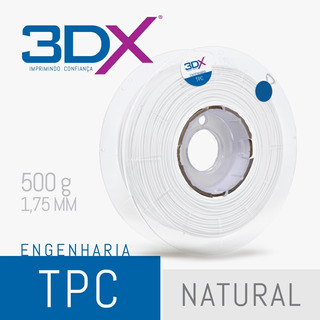 Filamento Flex Tpc D40 1,75 Mm | 500g Natural