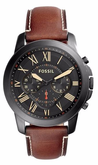 Relógio Fossil Grant Masculino Fs5241/0pn Original Nf