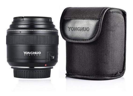 Lente Yongnuo 85mm F 1.8 P/ Canon Lançamento Pronta Entrega