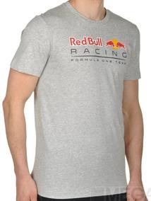 Camiseta Red Bull Puma Racing F1 Team Cinza Claro