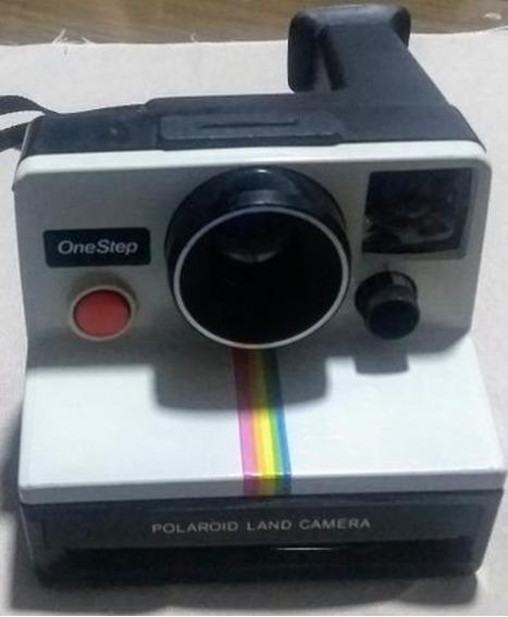 No Estado: Câmera Polaroid Onestep Instantânea Rara Anos 70