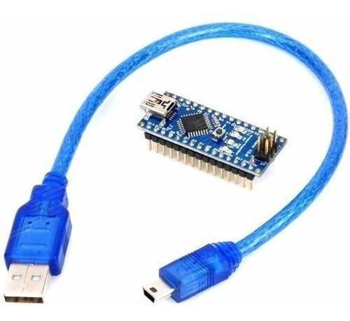 Placa Nano V 3.0 R3 Atmega328 C/ Cabo Usb Compatível Arduino