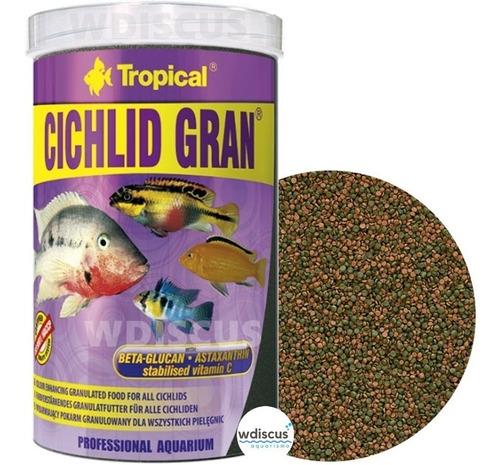 Imagem 1 de 3 de Ração Tropical Cichlid Gran 550g - Ração Granulada Ciclídeos