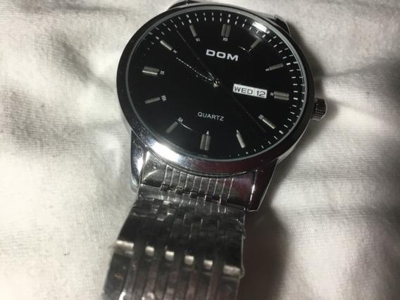 Relógio Dom, Novo, Fundo Preto, Daydate, Aço Na Caixa.
