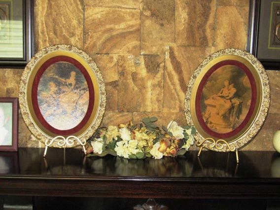 Antiguos Medallones Grandes Epoca Luis Xv