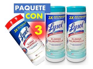 Toallitas Lysol Desinfectantes 3 Piezas,total 105 Toallas