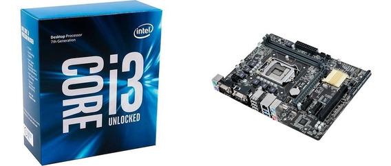 Processador Intel Core I3-7350k + Placa-mãe Asus H110m-c/br