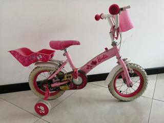 Bicicleta Barbie Original Muy Poco Uso Llantas Perefectas