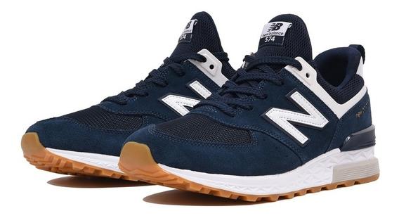 Zapatillas New Balance 574 Azul Oscuro Originales U. S. A