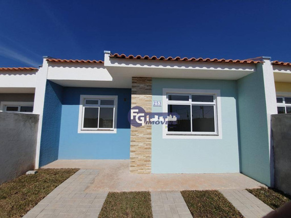 Casa Com 2 Dormitórios À Venda, 42 M² Por R$ 130.000,00 - Estados - Fazenda Rio Grande/pr - Ca0060