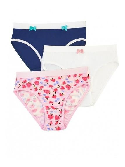 Paquete De 3 Panties Diferentes P/niña Ilusion 23989 Suave