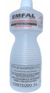 Álcool Etílico Hidratado 70% Emfal - 1 Litro