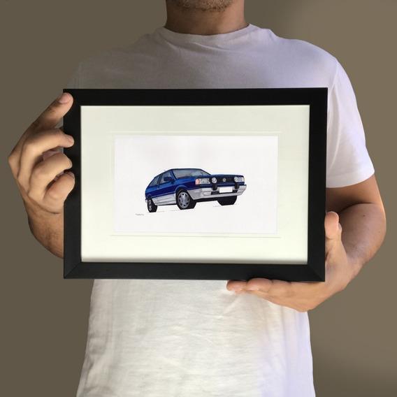 Volkswagen Vw Gol Quadrado - Quadro Decorativo