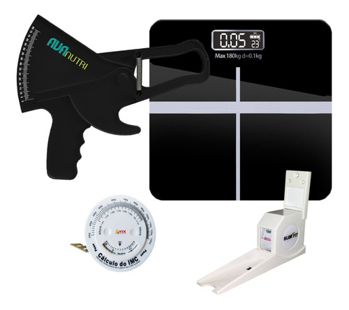Kit Avaliação Física Adipômetro Balança  Estadiômetro