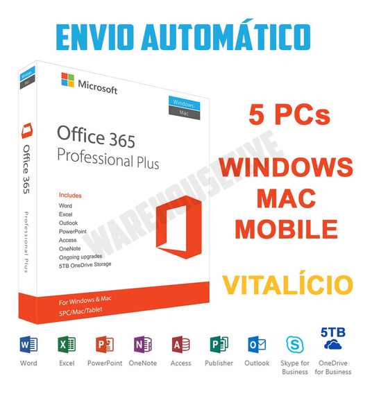 Ms Office 365 Privado Nova Licença + 5tb De Armazenamento